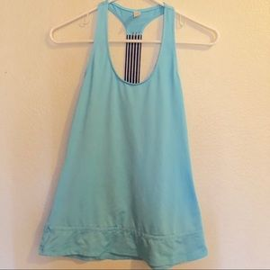 LUCY baby blue racerback athletic tank XS